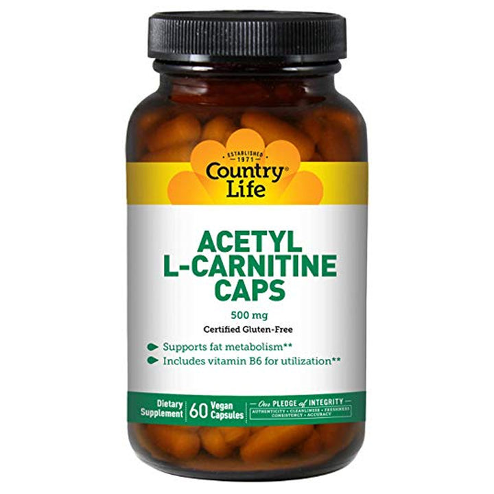 Country Life Acetyl L-Carnitine 500mg 60vc