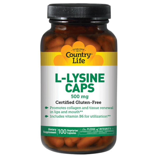 Country Life L-Lysine 500mg 100vc