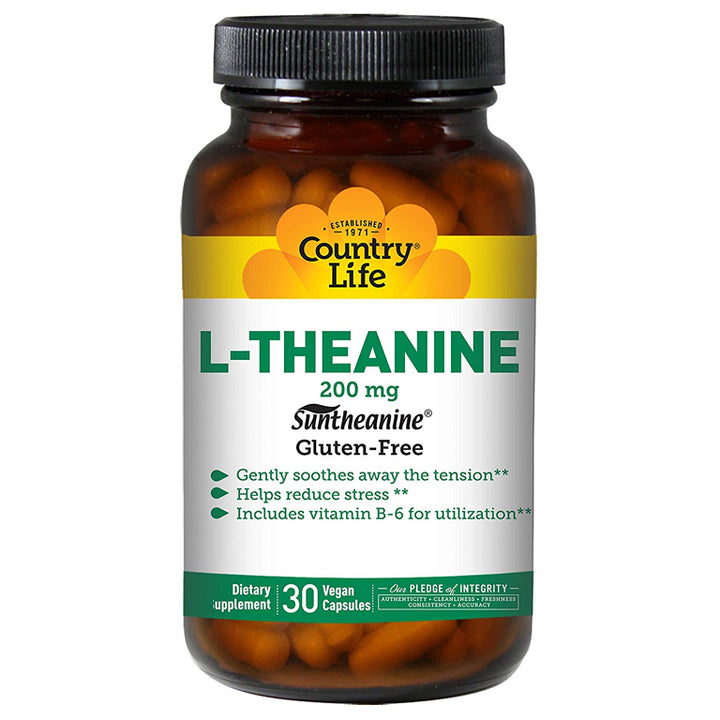 Country Life L-Theanine 200mg 30vc