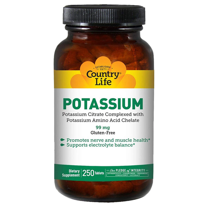 Country Life Potassium 99mg 250tb