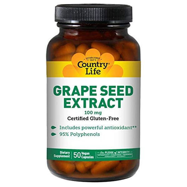 Country Life Grapeseed Ext 100mg 50vc