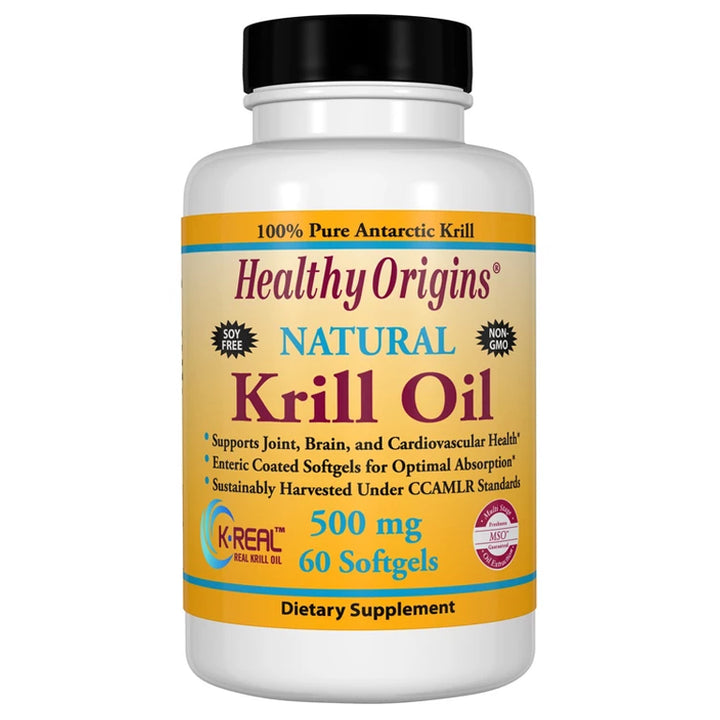 Healthy Origins Krill Oil 500mg 60vc