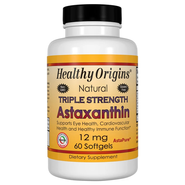 Healthy Origins Astaxanthin Triple Strength 12mg 60sg
