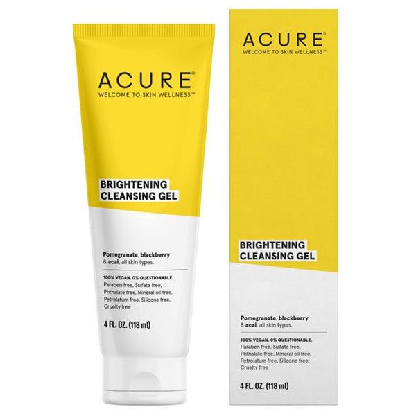 Acure Brightening Cleansing Gel - 4oz