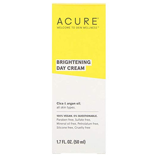 Acure Brightening Day Cream (Gotu Kola Extract & Chlorella) - 1.4oz