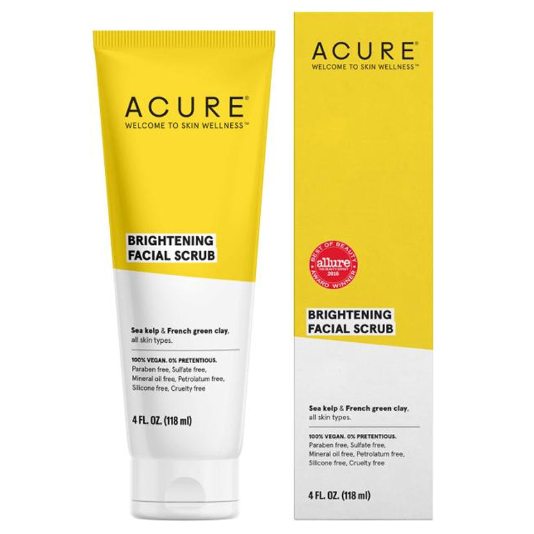 Acure Brightening Facial Scrub - 4oz