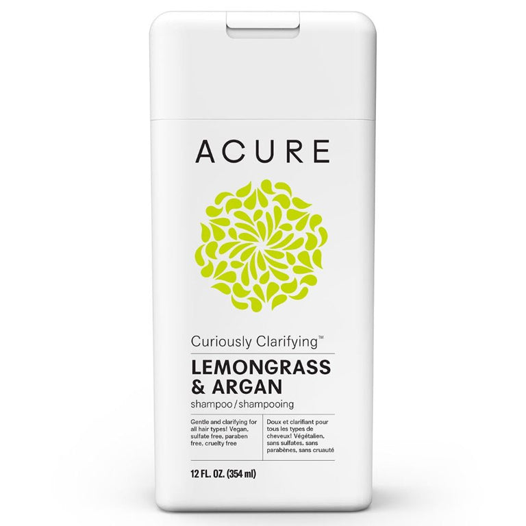 Acure Curiously Clarifying Shampoo (Lemongrass & Argan) - 12oz