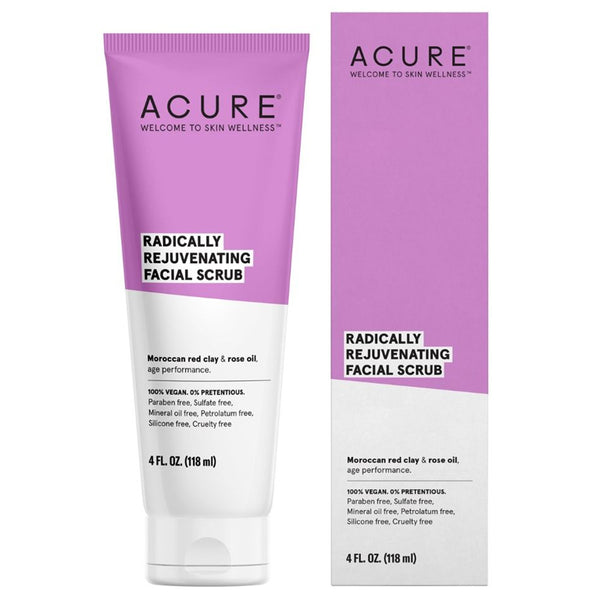 Acure Radically Rejuvenating Facial Scrub - 4oz