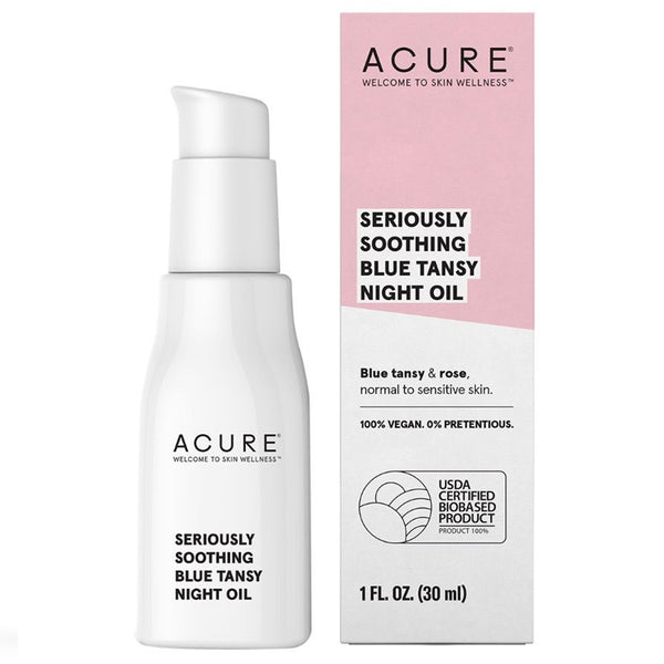 Acure Seriously Soothing Blue Tansy Night Oil - 1oz