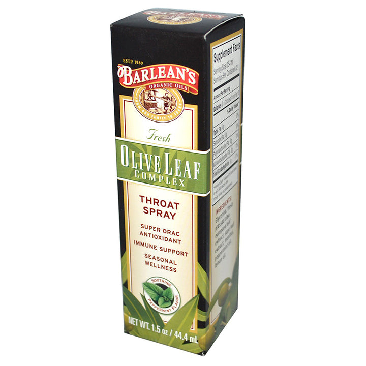 Barlean's Olive Leaf Complex Throat Spray - 1.5oz