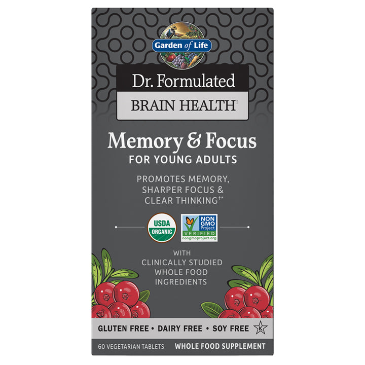 Dr. Formulated Memory & Focus For Young Adults 60 Tablets
