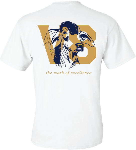 V8 Bull Head Mark of Excellence Pocket Tee