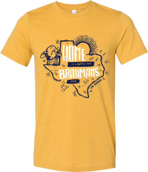 """Home is Where the Brahmans Are"" V8 Tee"