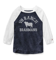 V8 Ranch Brahman Outline Baseball Tee