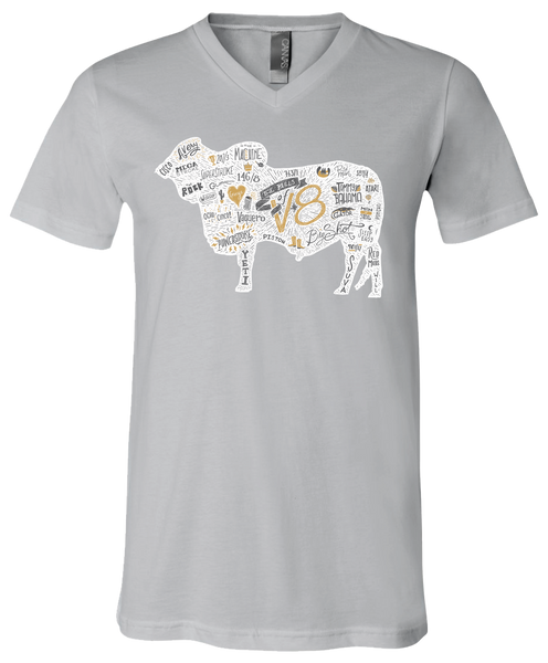 The Bulls of V8 V-Neck Tee