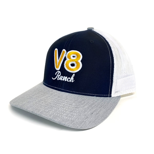 V8 Navy and Grey Trucker Cap