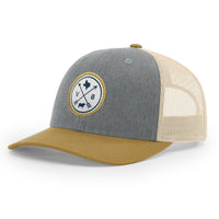 V8 Patch Gold/Grey/Birch Cap