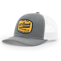 V8 Gold Patch Grey/White Trucker Cap