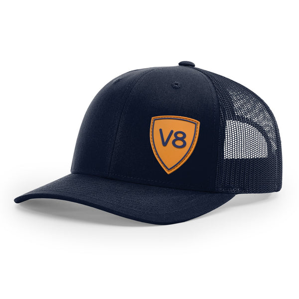 V8 Shield Navy Trucker Cap