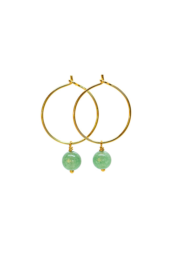Aventurin Creol Earrings