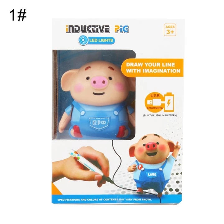 Drawing Lines Inductive Toy Pig