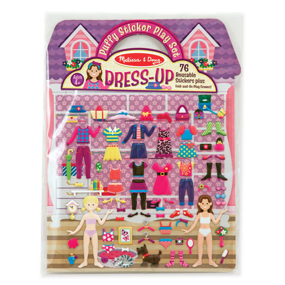 Reusable Puffy Stickers - Dress-Up Melissa and Doug