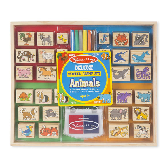 Deluxe Wooden Stamp Set - Animals Melissa and Doug