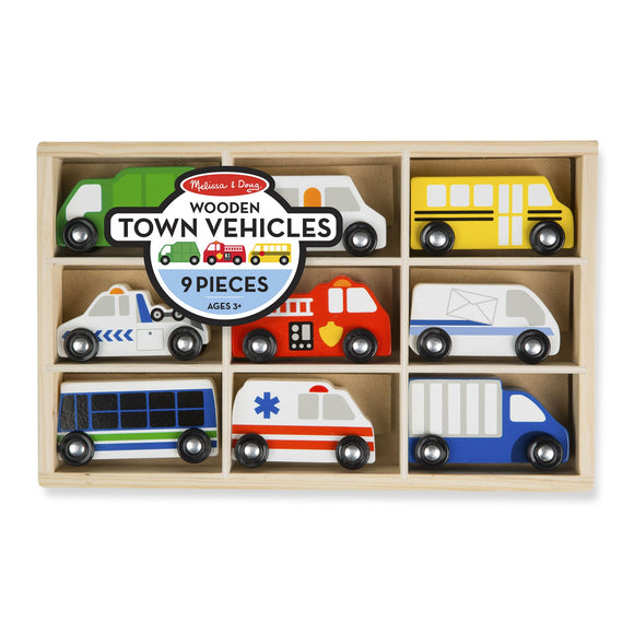 Wooden Town Vehicles Melissa and Doug