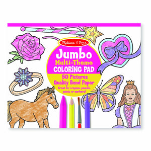 Jumbo Colouring Pad - Pink Melissa and Doug