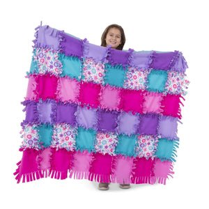 Created by Me - Flower Fleece Quilt Melissa and Doug