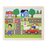 Wooden Magnetic Matching Picture Game Melissa and Doug
