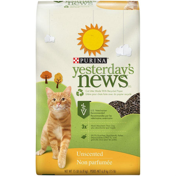 Yesterday's News Litter UnScented 15LB Cat Supplies Yesterday's News