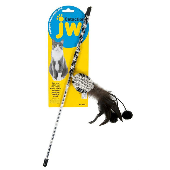JW Cataction Ball with Wand Cat Supplies JW Pet Products