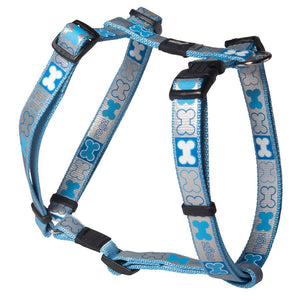 ROGZ Pupz Reflecto H-Harness Blue Medium Dog Supplies ROGZ
