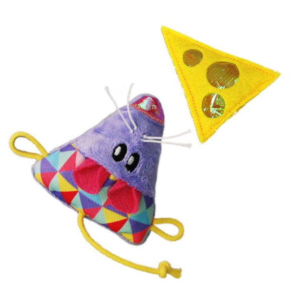 KONG Cat Crackles & Cheese Mouse 2-Pack Cat Supplies KONG