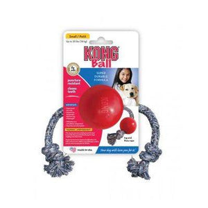 KONG Small Ball w/Rope Dog Supplies KONG