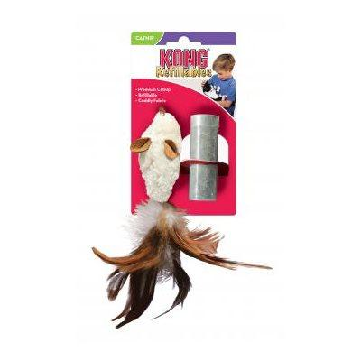 KONG Feather Mouse Cat Supplies KONG