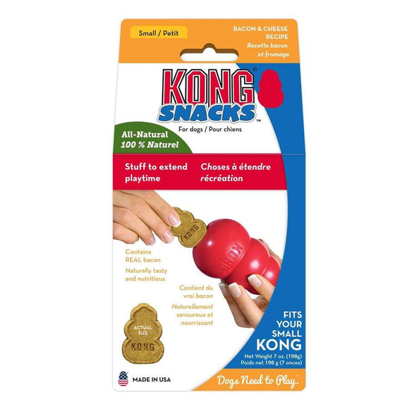 KONG Small Bacon & Cheese Snacks Dog Treats KONG