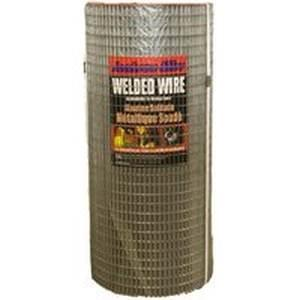 Jackson Wire 10 04 67 14 Welded Wire Fence, 14 ga, 100 ft L, 18 in H, Galvanized Fencing Jackson wire