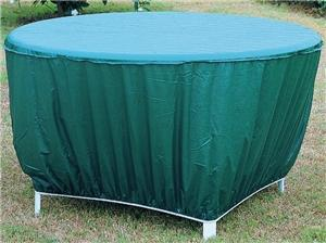 Seasonal Trends CVRA-RT-D Table Cover, 24 in H, Vinyl, Green Outdoor Furniture Seasonal trends