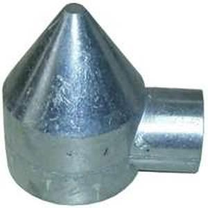 Stephens Pipe & Steel HD42041RP 1-Way Bullet Cap, Aluminum, For 1-3/8 in Top Rail and 2-1/2 in Line Post Fencing Stephens pipe & steel