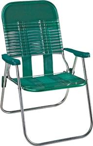 Seasonal Trends S15019-G Chair, 250 lb Capacity, PVC Seat, Sliver Frame Outdoor Furniture Seasonal trends