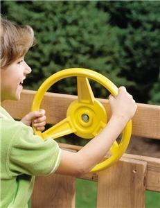 PLAYSTAR PS 7840 Steering Wheel, HDPE, Yellow Playground Equipment Playstar