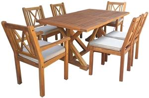 OAHU SET DINING WOOD 7PC Outdoor Furniture Seasonal trends