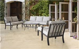 YORK OTTOMAN CUSHIONED ALUMINM Outdoor Furniture Seasonal trends