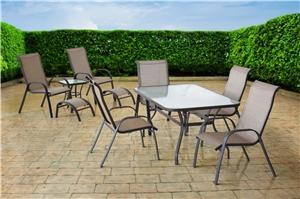 RIVIERA SET DINING & CHAT 10PC Outdoor Furniture Seasonal trends