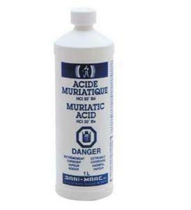 SANI MARC 301000011 Muriatic Acid, 1 L Pool & Spa Chemicals Sani marc