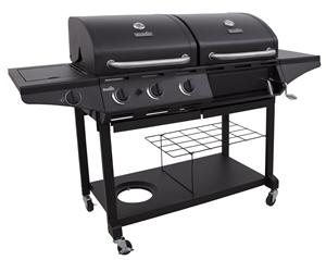 Char-Broil 463714514 Outdoor Charcoal/Gas Combo Grill, (3) 10000 BTU, (1) 12000 BTU, Propane Fuel, 4 Burners Grills, Smokers & Fireplaces Char-broil llc