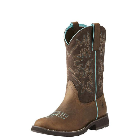 Delilah Round Toe Western Boot Boots Ariat Brown 7 B