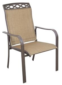 Seasonal Trends C4254SJ33SL04 Dining Sling Chair, Steel Frame, Brown Frame Outdoor Furniture Seasonal trends